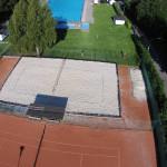 Luftaufnahme Bad Tennis/ Beachvolleyball