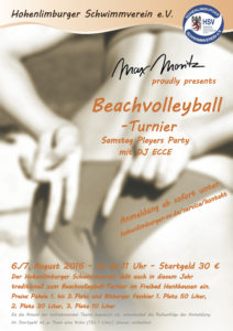 Beachvolleyball Poster DIN A2
