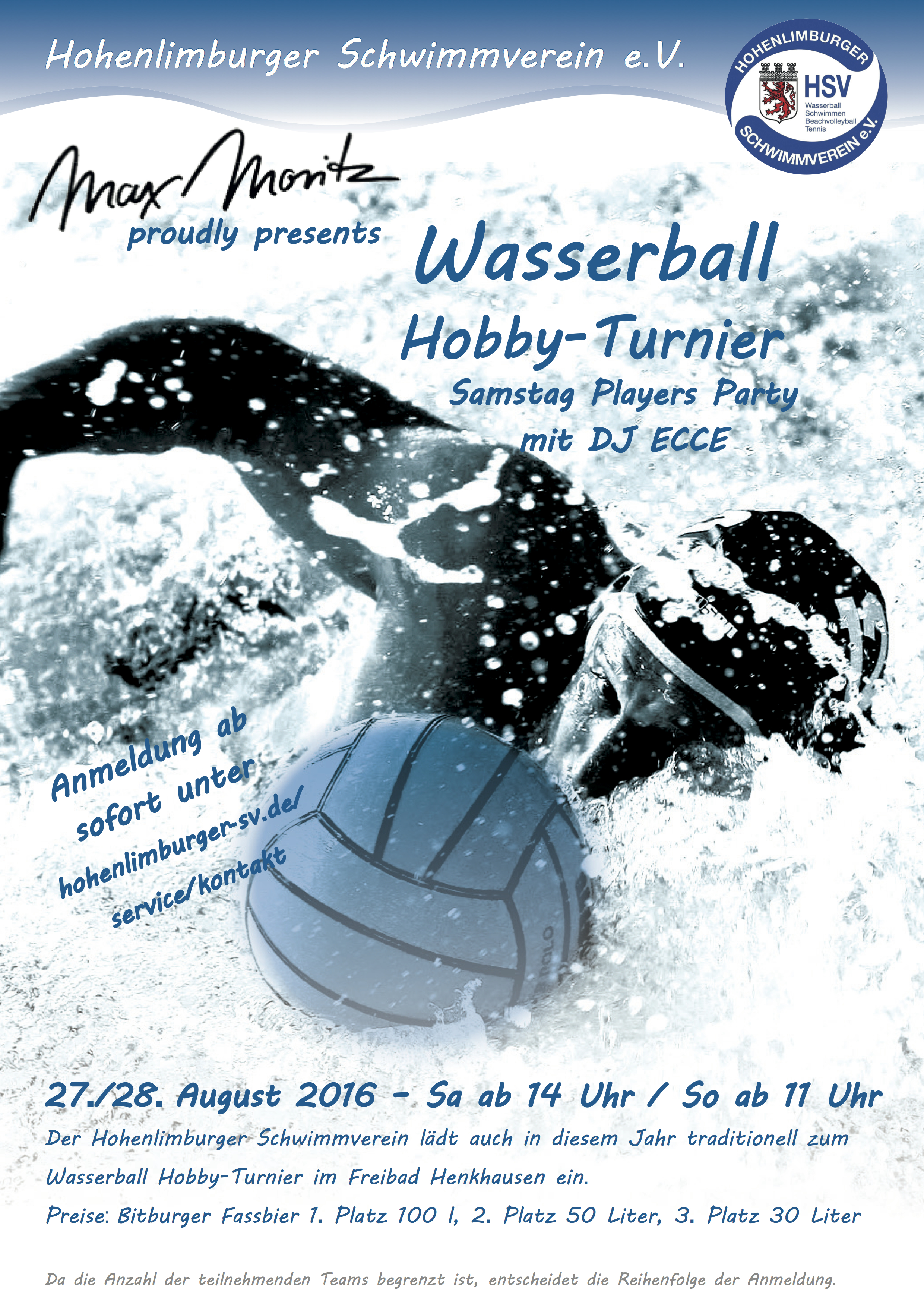 Wasserball Poster DIN A2